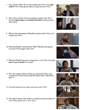 Stranger than Fiction Film (2006) Study Guide Movie Packet