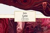 Strata Garnet Red Agate Textures
