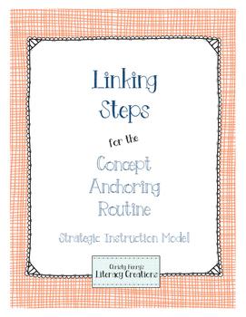 Strategic Instruction Model - Concept Anchoring Linking Steps