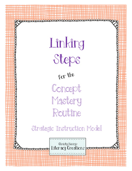 Strategic Instruction Model - Concept Mastery Linking Steps