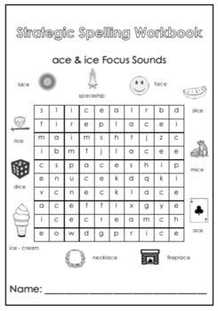 Strategic Spelling: ace & ice Focus Sounds Pack