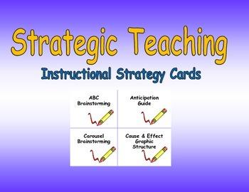 Strategic Teaching Strategy Cards