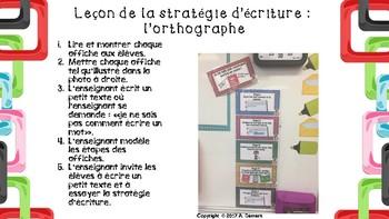 Stratégie d'écriture: Écrire un mot (orthographe)
