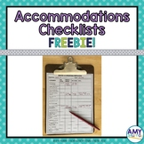 Strategies, Accommodations and Modifications Checklists for Documentation FREE