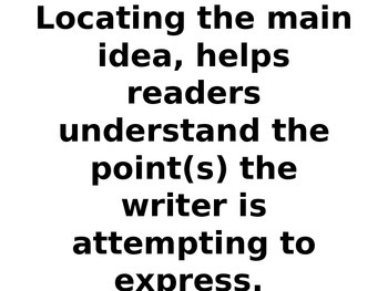 COMMON CORE-Strategies for Finding the Main Idea