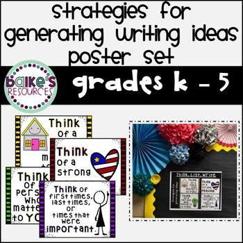 Strategies For Generating Writing Ideas