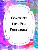 Tips to Explain