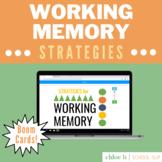 Strategies Working Memory - Boom Cards Speech Language The