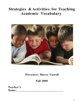 Strategies and Activities for Teaching Vocabulary
