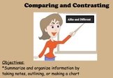 Strategies and Practice to Compare and Contrast
