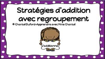 Stratégies d'addition avec regroupement