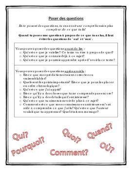 Stratégies de lecture - Poser des questions