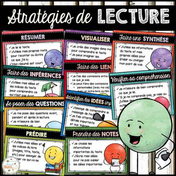 Stratégies de lecture - affiches - French Reading Strategies Posters