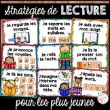 Stratégies de lecture - jeunes - affiches - French Reading Strategies Posters