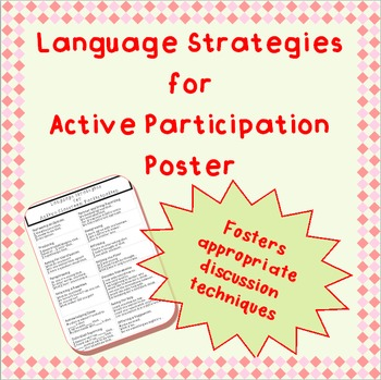Strategies for Active Classroom Participation - poster