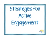 Strategies for Active Engagement Posters & Desk Cards