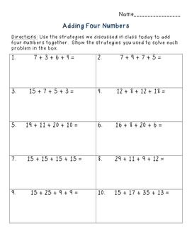 Strategies for Adding Double Digit Numbers (The Common Core Way!)