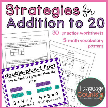 Strategies for Addition to 20- 1st Grade