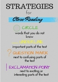 Strategies for Close Reading Poster