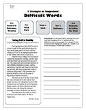 Strategies for Comprehending Vocab Reading Assessment 1 (Soil)