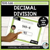 Strategies for Decimal Division   Boom Cards Distance Learning