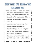 Strategies for Generating Essay Entries