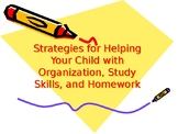 Strategies for Helping Your Child with Organization, Study