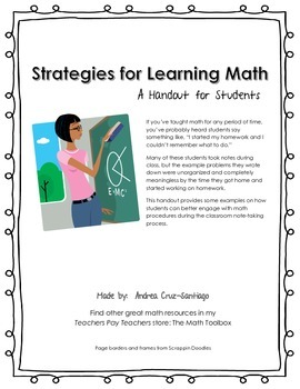 Strategies for Learning Math Handout