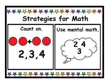 Math Strategies Posters