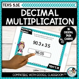 Strategies for Multiplying Decimals | Boom Cards Distance