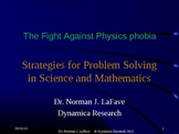 Strategies for Problem Solving in Science and Mathematics