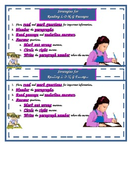 Strategies for Reading Long Passages - TEST PREP