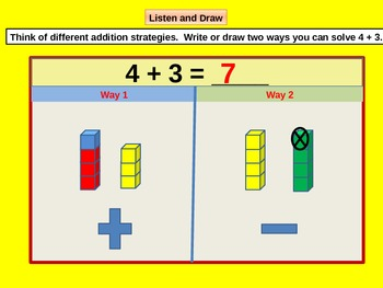 Strategies for Solving Addition Fact Problems for Visual Learners