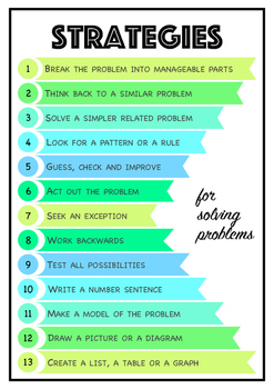 Strategies for Solving Problems Poster