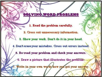 Strategies for Solving Word Problems (Printable)