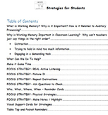 Strategies for Student with Auditory Processing and Other Learning Difficulties