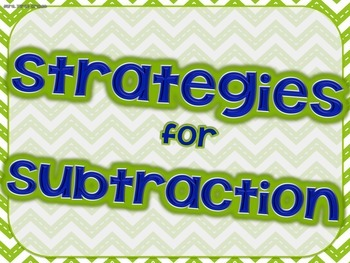 """Strategies for Subtraction"" Posters"