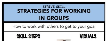 Strategies for Working in Groups Social Skill Steps Poster - The Empower Program