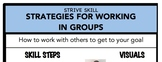 Strategies for Working in Groups Social Skill Steps Poster