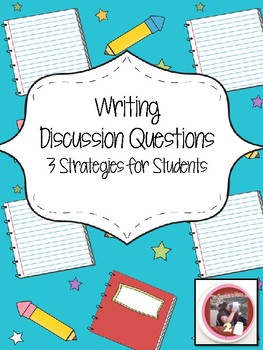 Strategies for Writing Discussion Questions