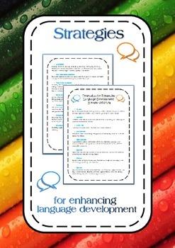 Strategies for enhancing language development in young children parent handout