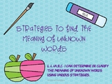 Strategies for finding the meaning of unknown words