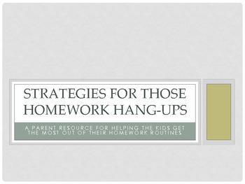 Strategies for those Homework Hang-Ups