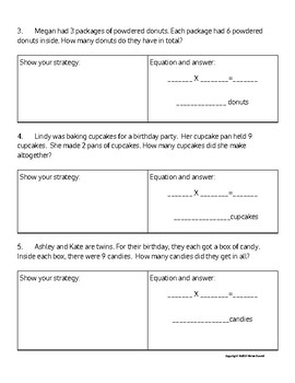 Strategies in Multiplication Word Problems