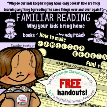 Reading handout - familiar reading | Distance Learning