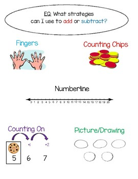 Strategies to Add and Subtract - FREEBIE