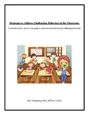 Strategies to Address Challenging Behavior in the Classroom