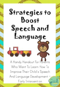 Strategies to Boost Speech and Language Parent Handout
