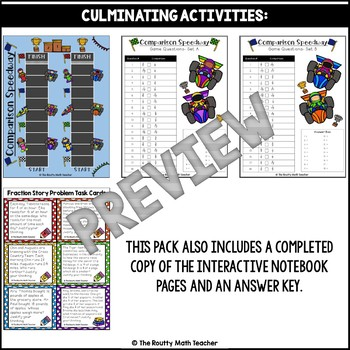 Strategies to Compare Fractions Companion Pack with Poster Pack Bonus Freebie
