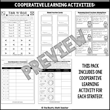Comparing Fractions Strategies Activity Pack with Strategies Poster Pack